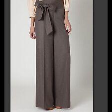 Anthropologie Elevenses Size 6 NEW Brown Sashed Wide Leg OBI Pants $128 NWT