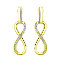 Gold Infinity Drop Earrings with Crystals from Swarovski®