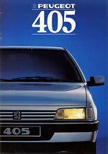 Peugeot 405 Prospekt 1988 brochure Auto PKWs Frankreich Autoprospekt Broschüre