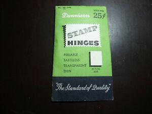 PACKAGE OF ORIGINAL DENNISON HINGES UNFOLDED