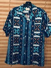 Royal Hawaiian True Vintage Tapa Style Geometric Print Flawless Hawaiian Shirt🌺