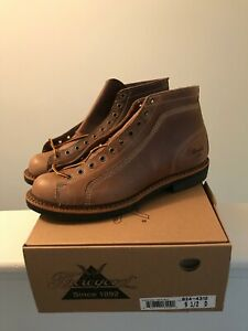 Thorogood 1892 Portage Roofer Boots, Natural Chromexcel, Size 9.5 D, New