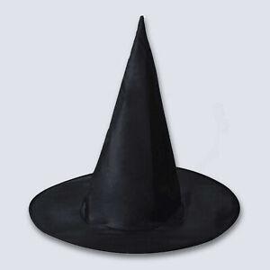 38cm Adult Children Kids Black Witch Hat Halloween Witches Fancy Dress Costume