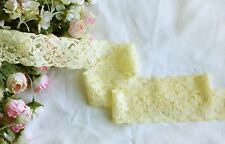 5 cm width Pretty Yellow Stretch Lace Trim