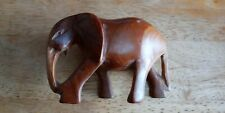 Standing carved wooden Elephant 3 inches tall