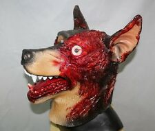 Zombie Dog Mask Halloween Evil Latex Doberman Fancy Dress Resident Canine Horror