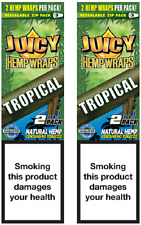 JUICY ORGANIC WRAPS ROLLING PAPERS 2 PACK (4 PCS) PASSIONFRUIT (TROPICAL)
