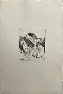 Bruno Caruso incisione Olé 60x40 firmato numerato 100 esemplari arabi