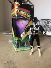 Vintage Black Mighty Morphin Power Rangers 8inch Bandai 1993