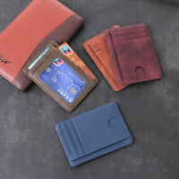 Leather  Travel Small Mini Money Pocket Id Card Holder Wallet Case Card Package