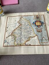 Saxon's Map of Northumberland (1576) Printed In 1964.