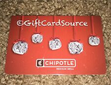 2012 CHIPOTLE RED GIFT CARD BURRITO ORNAMENTS COLLECTIBLE NEW