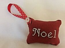 "Red White 2.5X3"" Pillow Sign ""Noel"" Ornament"