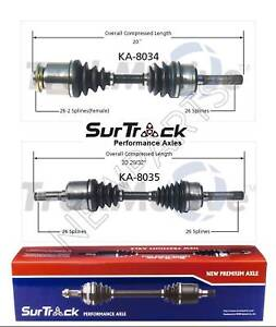 Pair of Front CV Axle Shafts SurTrack Set for Kia Sportage 1995-2001 4WD
