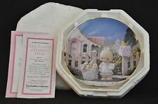 "Precious Moments Collector Plate "" God Loveth A Cheerful Giver"" Mib W/Coa"