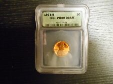 1971-S PR69 DCAM Lincoln Cent PROOF Penny 1c - by ICG (Price Guide $5,000)