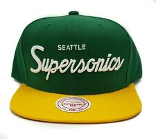 Mitchell & Ness Seattle Supersonics Classic Script Adjustable Snapback Cap