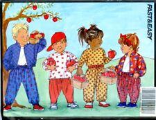 Uncut Sewing Pattern boys girls Toddler jacket pants top Size 5-6x