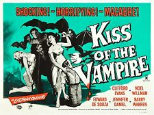 movie film repro Hammer horror  kiss of the vampire Poster  A3 This A print