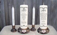 Personalised Wedding Unity Candle & Remembrance Candle Set