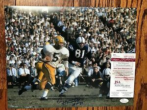 Green Bay Packers Paul Hornung Signed 11X14 PHOTO  with JSA/COA 1