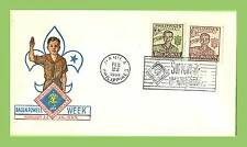 Philippines 1959 support 10th World Scout Jamboree Scout salute cachet cover