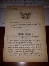 REGIO DECRETO 1876 DERIVAZIONI ACQUE BOVES VALDAGNO ZOLA PREDOSA LAGHETTO NOVI