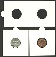 COIN HOLDERS 2 x 2 Staple Type 20mm Suits 1c 5c 6d Size Coins - Bundle of 50