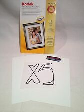 "KODAK ULTRA PREMIUM PHOTO PAPER 5 Packs of 3 SHEETS- Total 15 HIGH GLOSS 4"" x 6"""