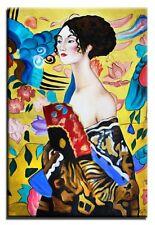 GUSTAV KLIMT Ölbild Gemälde Leinwand Ölbild Bild Bilder 60X90 Handarbeit 05375