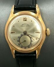 ERNEST BOREL Vintage CHRONOMETER 18k Rose Gold GENTS WATCH ~ WORKING