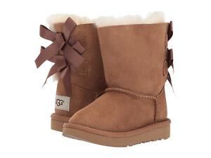 NEW TODDLER INFANT UGG BOOT BAILEY BOW II CHESTNUT WATER RESISTANT ORIG 1017394T