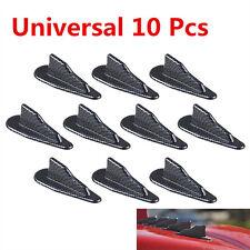10* EVO Style PP Roof Shark Fins Spoiler Wing Vortex Generator carbon Fiber Look