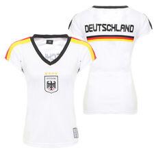 Damen Fußball Deutschland Trikot WM Shirt Fanshirt T-Shirt weiß Germany CL 52-1