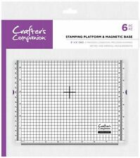 "Crafters Companion 8 x 8"" Stamping Platform and Magnetic Base"