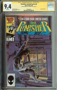 PUNISHER LIMITED SERIES #4 SS CGC 9.4 SIGNED JOHN BEATTY MIKE ZECK