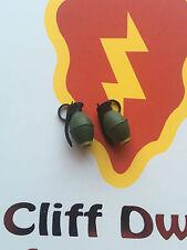 Ace opération cliff type iv 1970 us M67 grenades x 2 loose échelle 1/6th