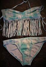 SWIMSUIT Bikini Swim Suit Sz M by CANDIE'S SWIM 2-pc Top w/ Long Fringe   B