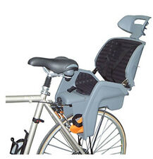 EVO Baby Seat Toddler Deluxe Child Bike Carrier With Handle 3-Position Grey NEW