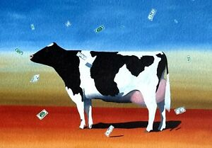 "Robert Deyber signed lithograph ""Cash Cow"""