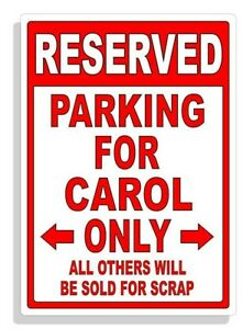 Personalized Parking Sign Wall Decal Metal Sign No Parking Customized CAROL