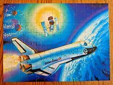 Ravenburger Super 100 Pc Jigsaw Puzzle USA Space Shuttle NASA Flight Satellite