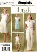Simplicity Women's Pants and Shorts Pattern 3756 Size 20W-28W UNCUT