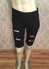 Rose Wholesale Rosegal Ripped Bermuda Shorts L Fits US Size 4 Cuffed Black New