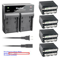 Kastar Battery Rapid Charger for Sony NP-F970 Sony DSR-250 DSR-300 DSR-PD100