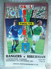 1991 Skol Cup Final - RANGERS v HIBERNIAN, 25th Sept