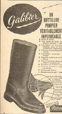 MANUFACTURE CHAUSSURES GALIBIER RICHARD GONVERT SAPEURS-POMPIERS PUBLICITE 1955