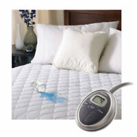 Sunbeam SelectTouch Waterproof Quilted Electric Heated Mattress Pad