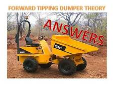 Dumper Truck CPCS A09 Theory Test Style Answers 2018 Update Mock Exam