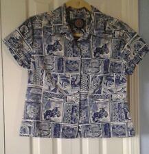 HARLEY DAVIDSON Hawaii Women's Button Front Short Sleeve Blouse Top ~ Sz Medium